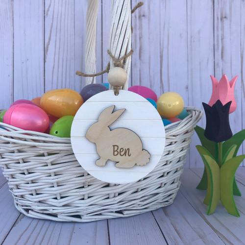 Farmhouse Bunny Easter Basket Tag