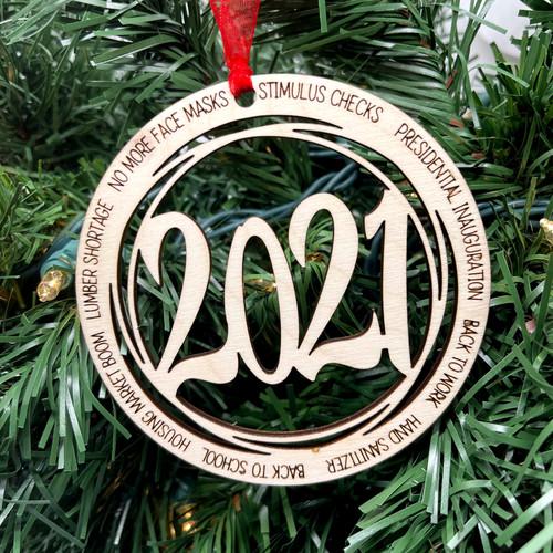 Round 2021 No More Mask/Events Ornament