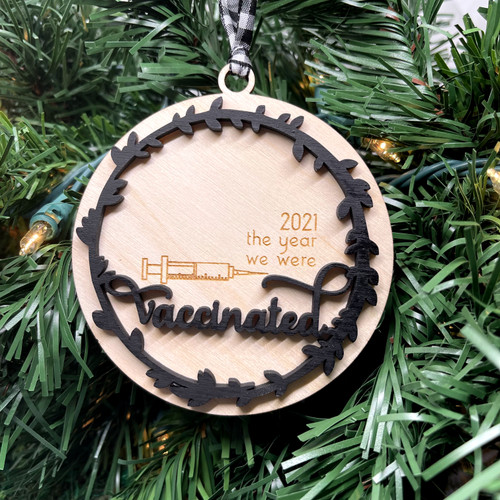 2021 The Year We Were Vaccinated Ornament