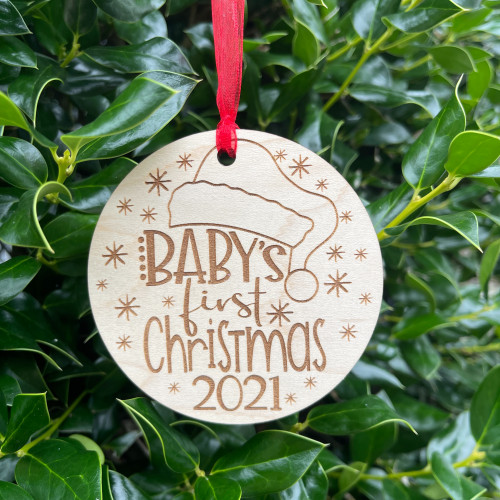 Baby's First Christmas Santa Hat Ornament