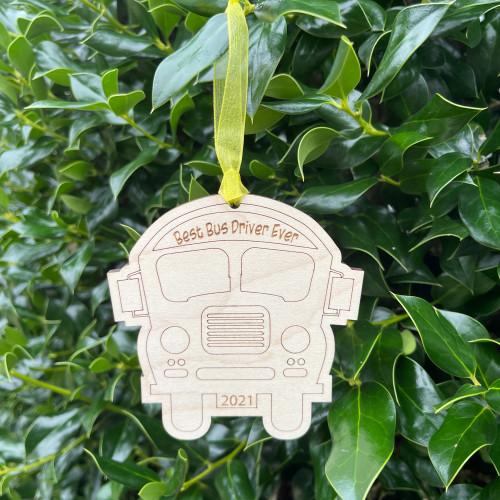 Best Bus Driver Ever Ornament