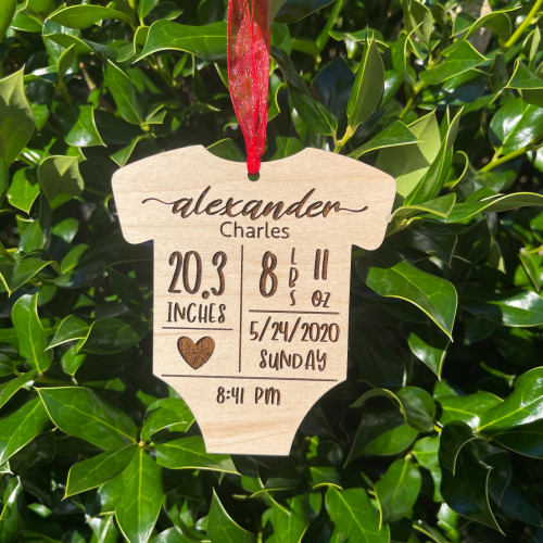 Personalized Baby Onesie Ornament