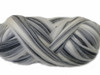 Smoke--Combination of black grey and white fibers. Combed parallel.  22 micron Merino Wool Tops.