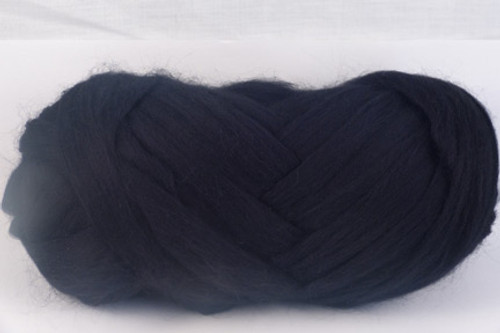 Black --Excellent true black.  18.5 micron Merino Wool Tops.