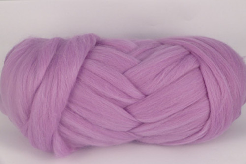 Bloomin' Lilac--Soft purple with plenty of pink undertones.  18.5 micron Merino Wool Tops.
