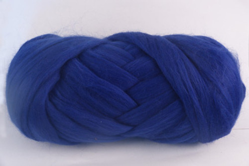 Blueberry --Mid-blue with purple undertones.  18.5 micron Merino Wool Tops.