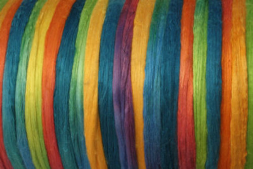 Bombyx silk tops for feltmakers. This dyed color harmony is Confetti