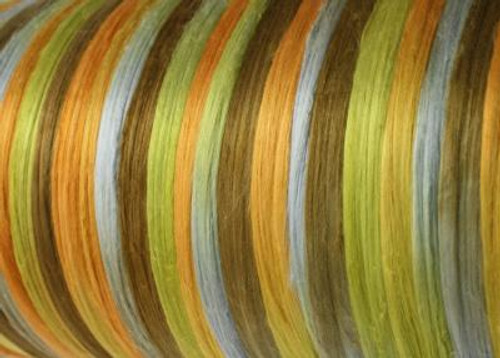 Bombyx silk tops for feltmakers. This dyed color harmony is Frankie