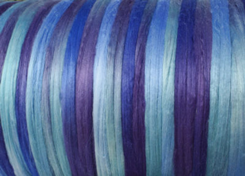 Bombyx silk tops for feltmakers. This dyed color harmony is Rhythm 'n Blues