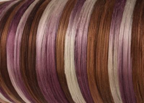 Bombyx silk tops for feltmakers. This dyed color harmony is Truffles