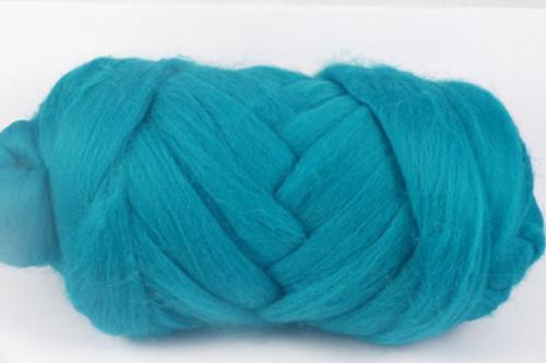 Capricorn--Rich dark turquoise.  18.5 micron Merino Wool Tops.