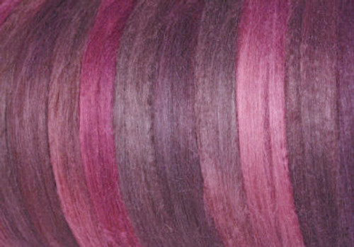 Tussah silk tops for feltmakers. This dyed color harmony is Gypsy Rose