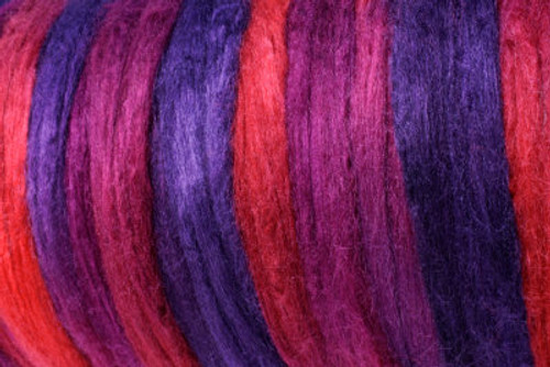 Tussah silk tops for feltmakers. This dyed color harmony is Jamberry