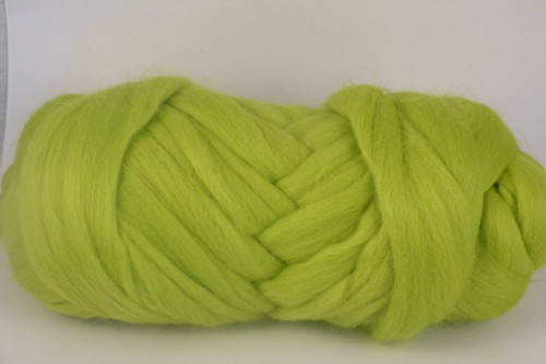 Celerytop Pine--Vivid chartreuse with lots of yellow in the green.  18.5 micron Merino Wool Tops.