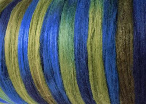 Tussah silk tops for feltmakers. This dyed color harmony is Sea Grass
