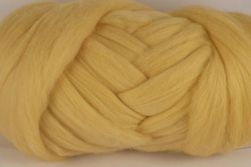 Chamois--Very pale caramel.  22 micron Merino Wool Tops.