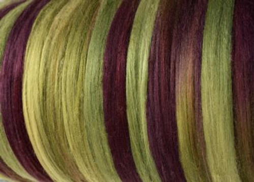 Tussah silk tops for feltmakers. This dyed color harmony is Seedling