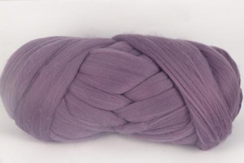 Amethyst--Grey lavender.  18.5 micron Merino Wool Tops.