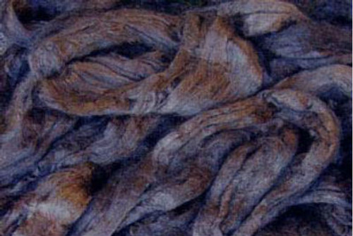 Tussah silk tops for feltmakers. This dyed color is Espresso