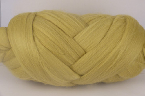 Citronella--Pastel yellow with green undertones.  18.5 micron Merino Wool Tops.