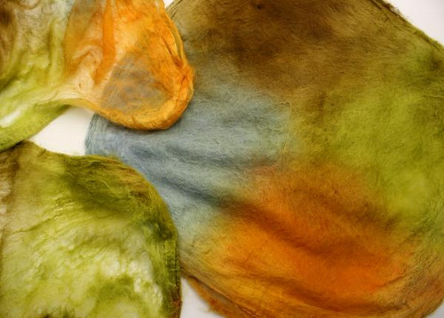 Silk hankies. This color harmony is Frankie