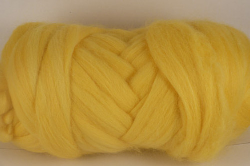 Cockatoo--Soft daffodil yellow.  18.5 micron Merino Wool Tops.