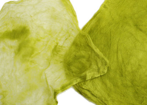 Silk hankies. This solid color is Wasabi