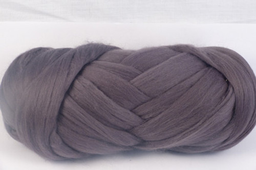 Slate--Mid-grey - no blue undertones.  18.5 micron Merino Wool Tops.
