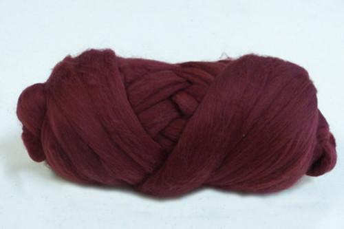 Port Wine--Rusty brown burgundy.  18.5 micron Merino Wool Tops.