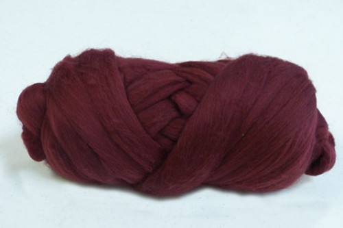 Port Wine--Rusty brown burgundy.  18.5 micron Merino Wool Tops.