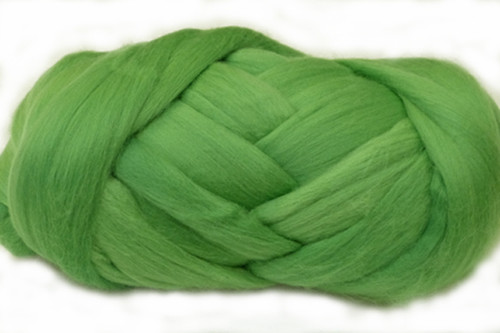 """Asparagus--Our version of Pantone's color of the year """"Greenery"""".  18.5 micron Merino Wool Tops."""