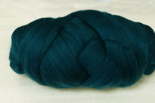 Kingfisher--Dark teal with more green than blue.  18.5 micron Merino Wool Tops.