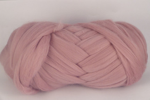 Possum--Old fashioned dusty rose pink.  18.5 micron Merino Wool Tops.