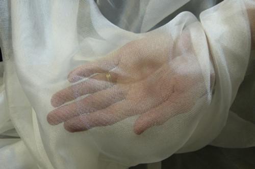 Silk mesh fabric. Open weave, see through