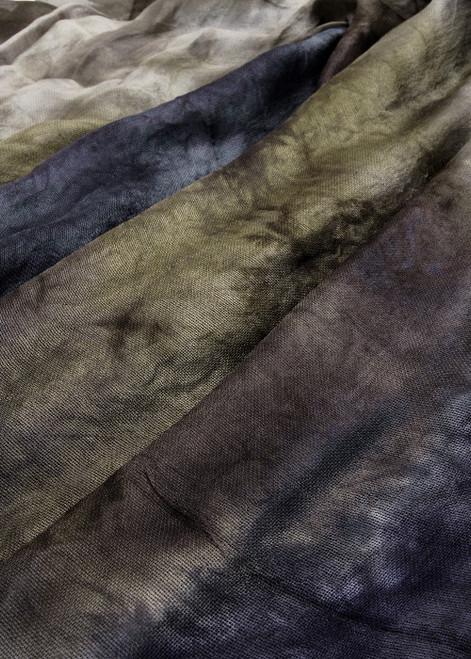 Silk mesh fabric. Open weave, lightweight,  lustrous.