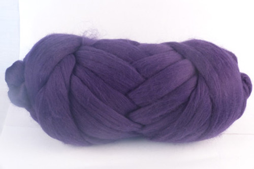 Currant--Mid navy with purple undertones.  18.5 micron Merino Wool Tops.