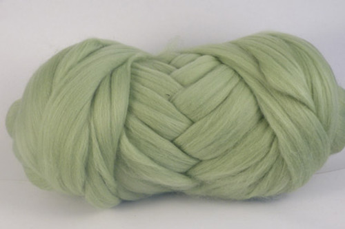 Custard Apple--Pale apple green.  18.5 micron Merino Wool Tops.