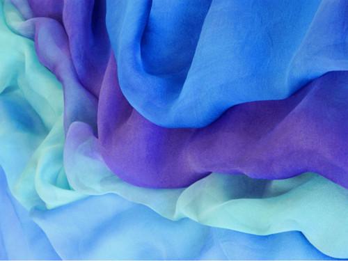 Silk gauze fabric in Rhythm 'n Blues