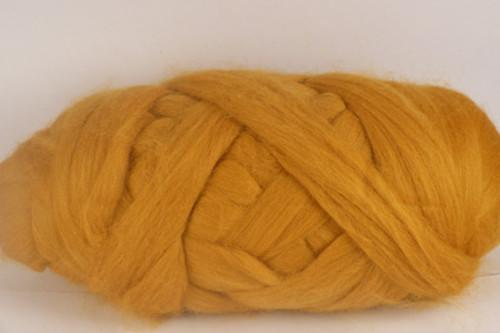 Anzac Biscuit--Bright butterscotch yellow.  18.5 micron Merino Wool Tops.