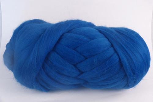 """Derwent--""""Crayola"""" blue.  18.5 micron Merino Wool Tops."""