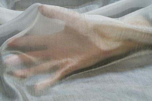 Margilan silk gauze fabric. Open weave. Featherweight.