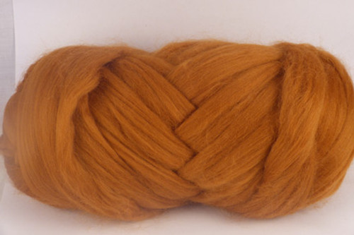 Dingo--Golden honey color.  18.5 micron Merino Wool Tops.