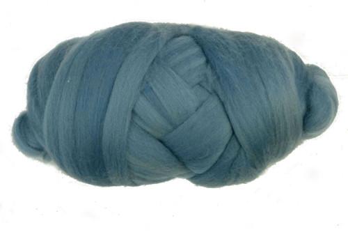 Dusty Blue--Light Grey/blue.  18.5 micron Merino Wool Tops.