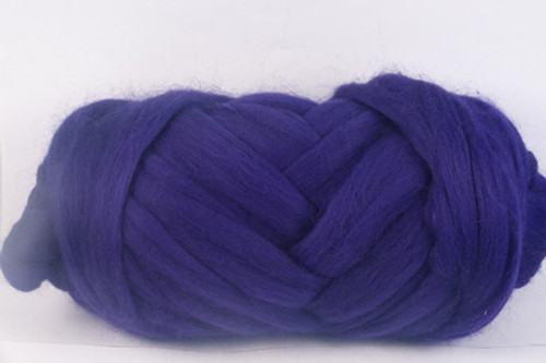 English Violets--Rich royal purple.  18.5 micron Merino Wool Tops.