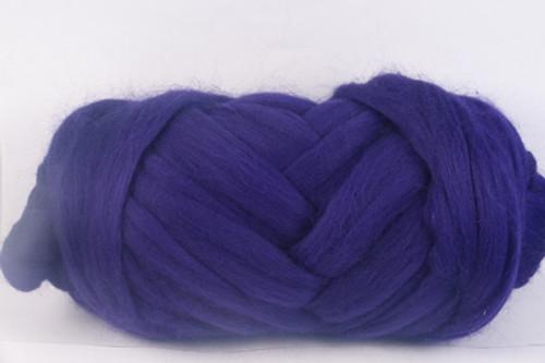 English Violets--Rich royal purple.  18.5 micron Merino Wool Tops.
