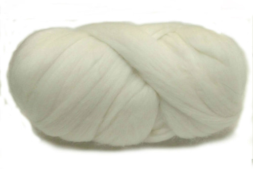 Ghost Gum--Natural withjust a touch of creamy, yellow richness..  18.5 micron Merino Wool Tops.