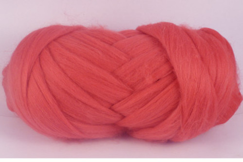Guava--Coral pink.  Merino Wool Tops.