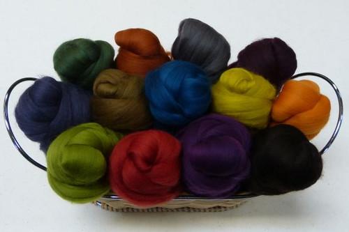Merino wool Mixed Bag in Earth Tones.