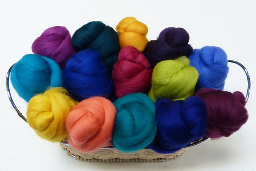 Merino wool Mixed Bag in Jewel Tones.