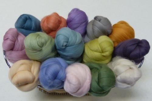 Merino wool Mixed Bag in Pastel Tones.